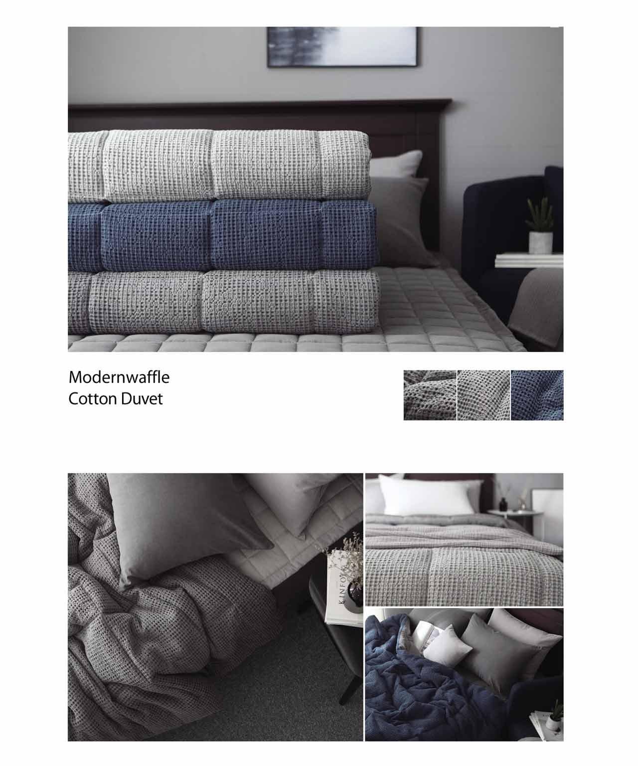 Chăn mền ga gối Hàn Quốc Modernwaffle Cotton`