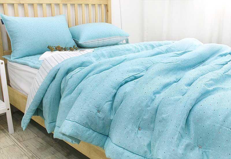 Set chăn mền Friendship màu xanh