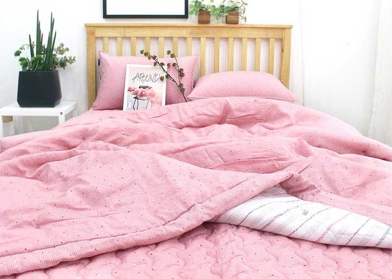 Set chăn mền Friendship màu hồng
