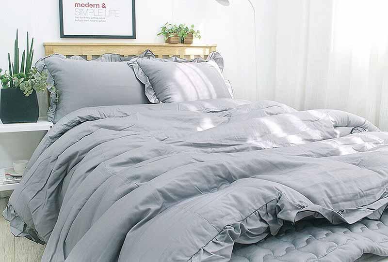 Bộ chăn mền siêu cao cấp Heri màu xám