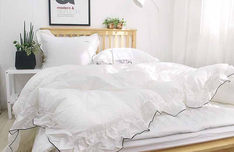 Bộ chăn mền siêu cao cấp Heri màu trắng