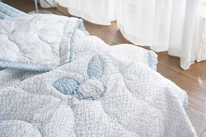 chăn mền Taengi-Flower màu xanh biển